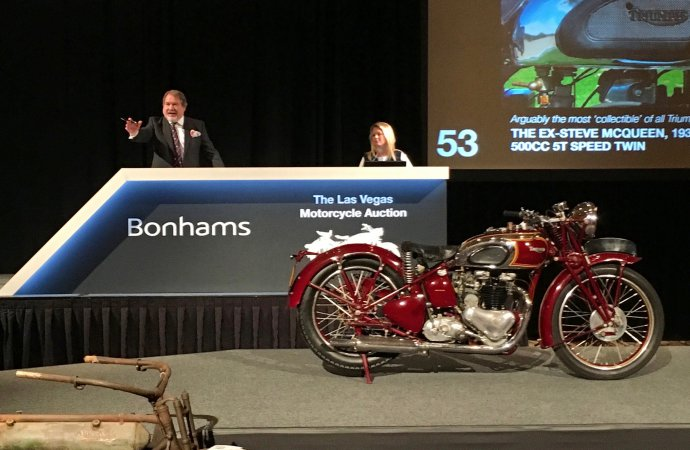 McQueen magic strikes again at Bonhams' Las Vegas motorcycle auction