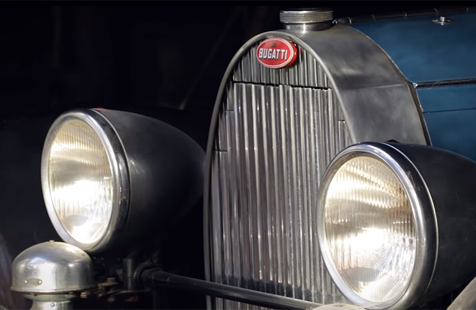 Artcurial will offer four cars from a Belgian barn find at the Salon Retromobile, including some great Bugatti examples. | Screenshot