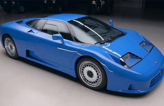 Leno took this Bugatti EB110 on the latest episode of Jay Leno's Garage.   Screenshot