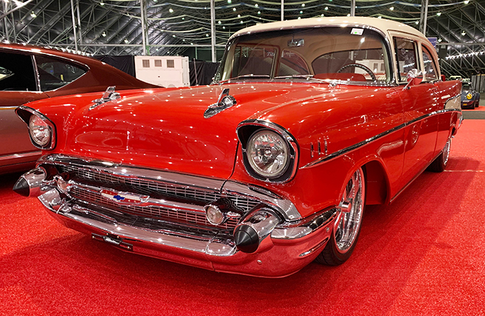 About 1,800 cars, such as this custom 1957 Chevrolet 210, will be offered with no reserve at Barrett-Jackson Scottsdale. The company claims its the largest such number ever at a single auction. | Carter Nacke photos