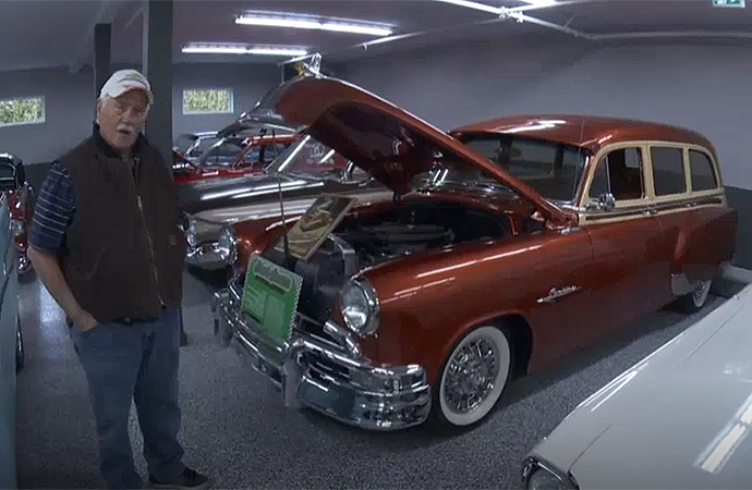Garry Cassidy has nearly rebuilt his classic car collection that was destroyed in a fire. | Screenshot