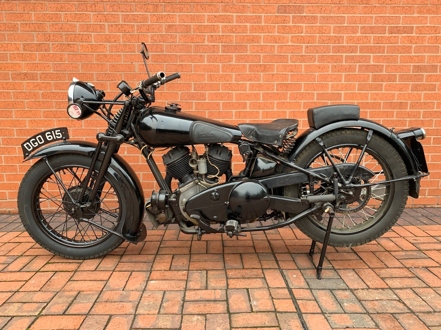 Barn find? No, this motorcycle was found in the living room