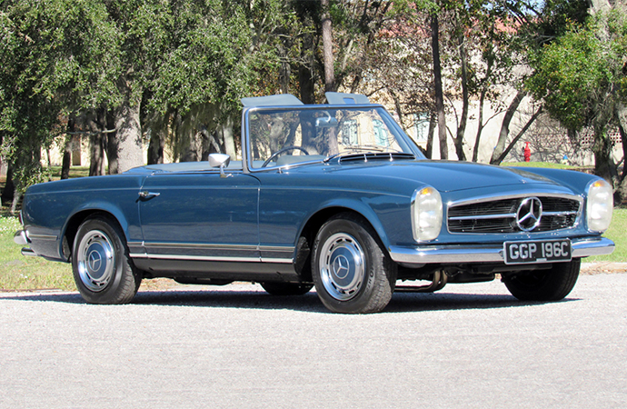 This Mercedes-Benz roadster once owned by Beatles legend John Lennon will hit the Barrett-Jackson block in Scottsdale, Arizona over the weekend, | Barrett-Jackson photos