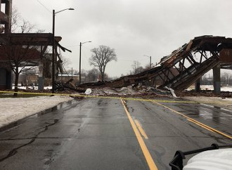 Left to the elements, Packard plant bridge collapses in Detroit