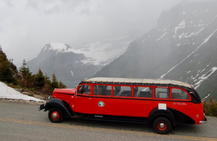 Glacier Park's vintage Red Bus Fleet getting hybrid makeover