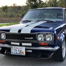 Clean 1971 Datsun 510 modified for style and performance