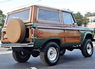 Unique-build 1974 Ford Bronco turned into a vintage-style woody