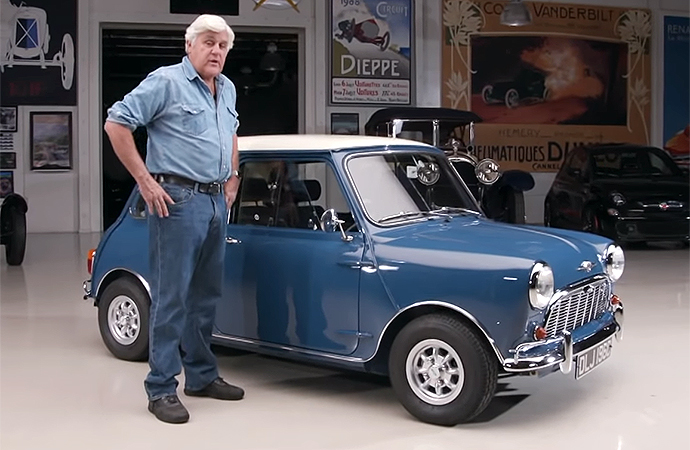 The latest car to appear on Jay Leno's Garage was a 1965 Morris Mini Minor that has been restored. | Screenshot