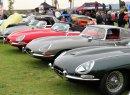 A row of quality Jaguar E-types | Bob Golfen photo