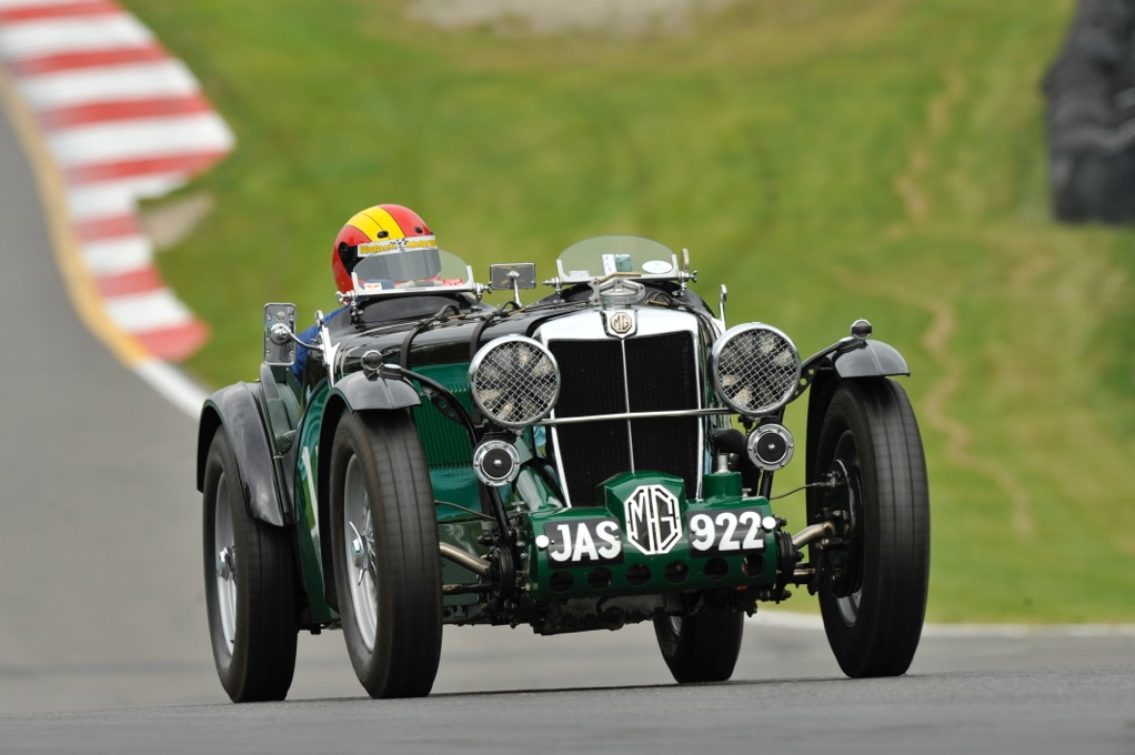 Author Burt Levy in a pre-war MG racer at Watkins Glen. | Burt Levy photo