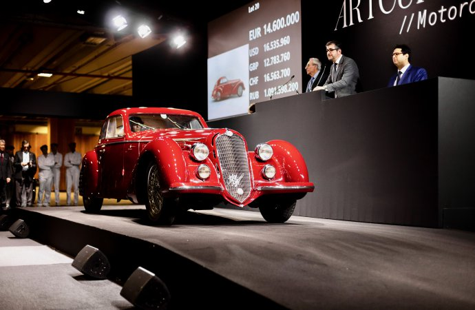 1939 Alfa Romeo 8C 2900 sells for $18.977 million at Artcurial