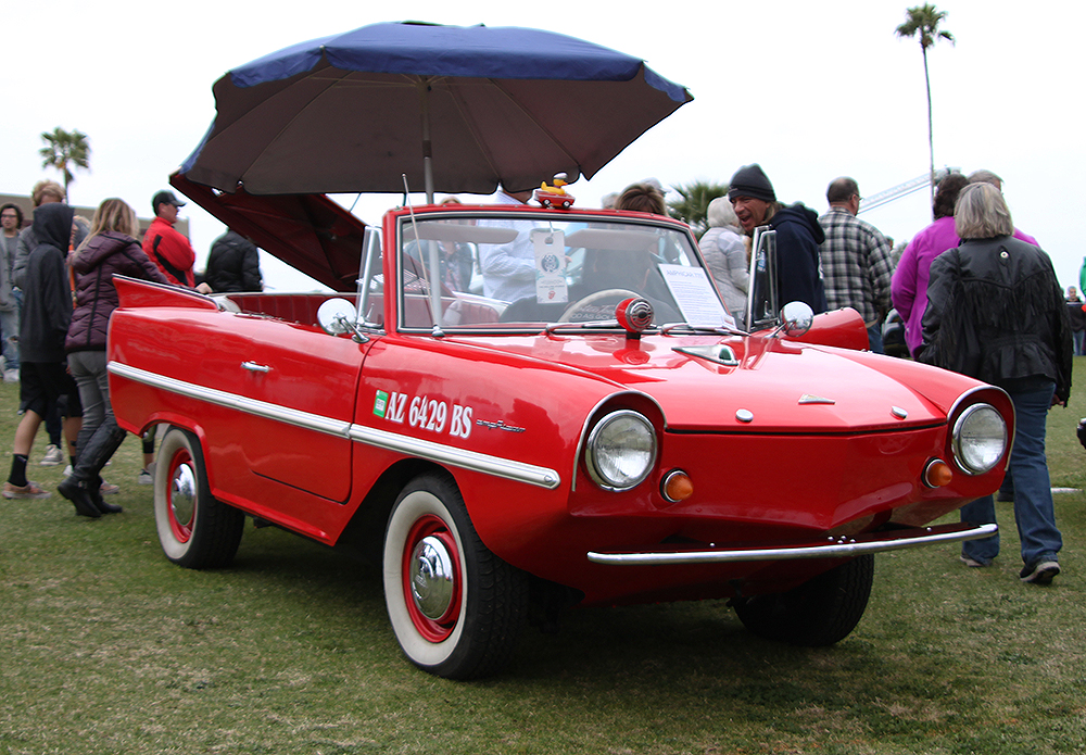 Considering the overcast weather and the proximity to a lake, this Amphicar 770 wasn't a bad choice to bring to the concours.   Carter Nacke photo