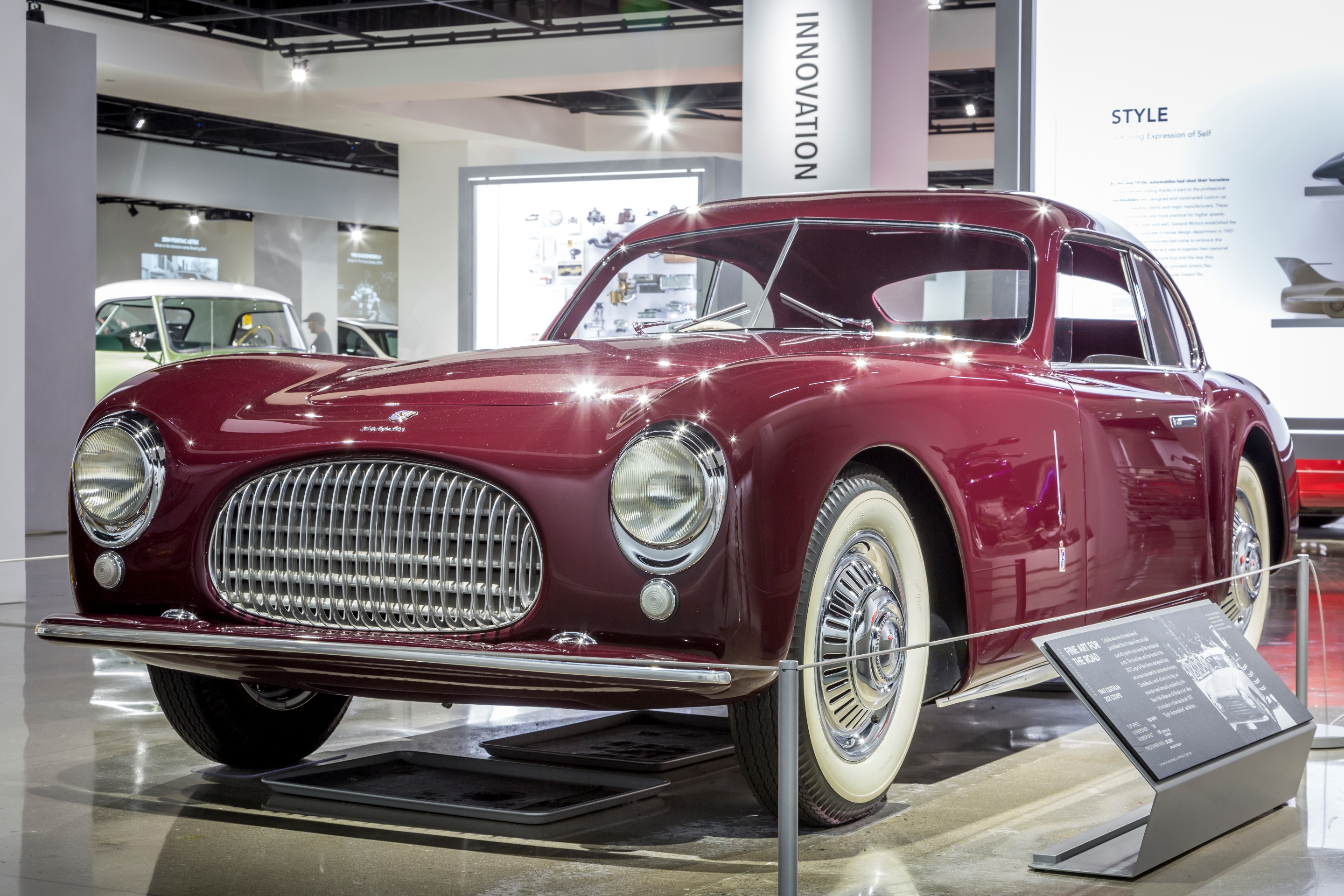 A Cisitalia 202 on display at the Petersen Automotive Museum in Los Angeles. | Petersen Automotive Museum photo