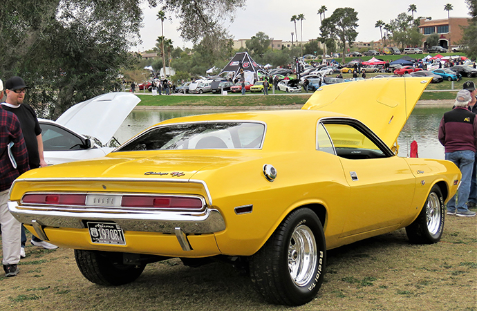 The annual Concours in the Hills featured a great grouping of classic cars, including this 1970 Dodge Charger R/T.   Bob Golfen photo