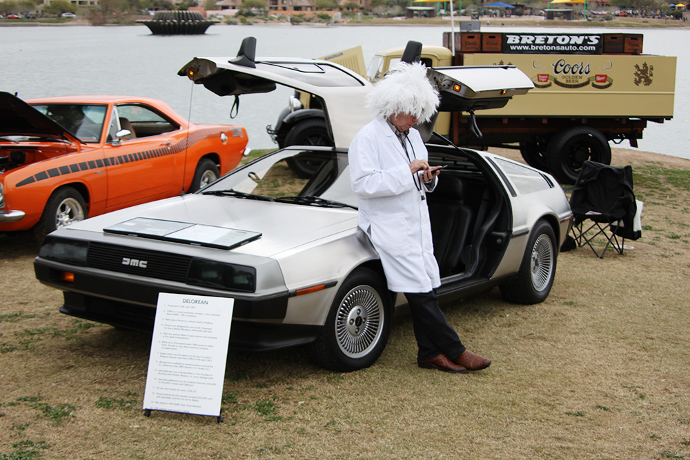 Cellphones weren't invented in 1985, but Doc had access to a time machine...   Carter Nacke photo