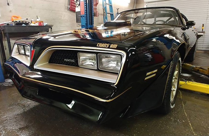 A planned jump of a Smokey and the Bandit replica at the upcoming Autorama show was blocked by Detroit officials citing concerns about a Confederate flag on the vehicle's license plate. | Facebook photo