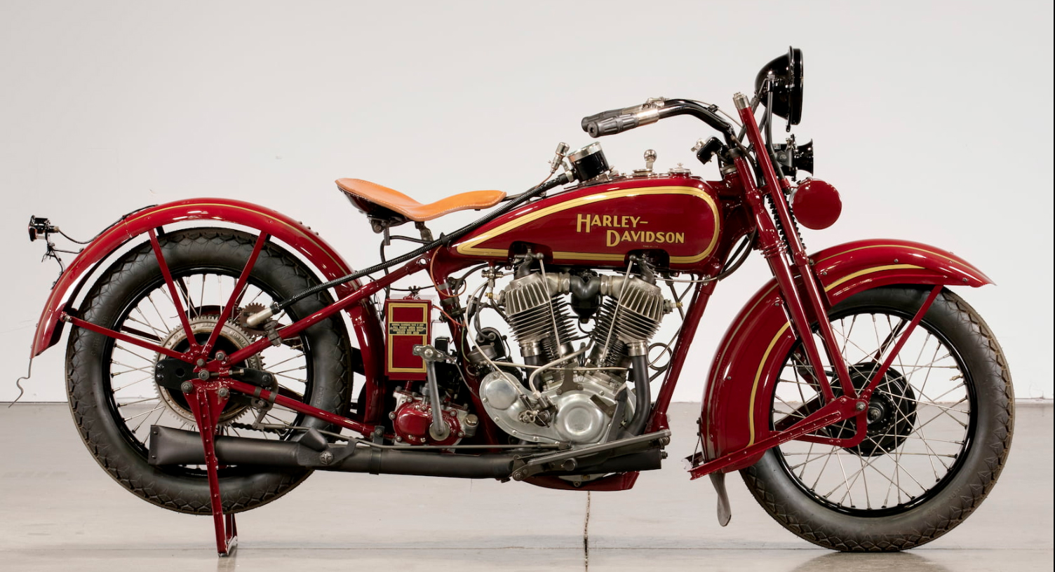This 1928 Harley-Davidson JDH Twin Cam was the priciest motorcycle at the auction.