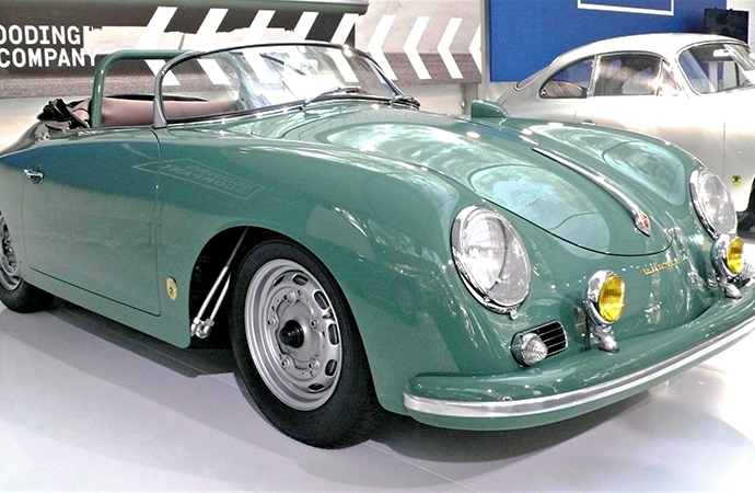 Comedian and car collector Jerry Seinfeld was sued for selling this rare 1958 Porsche 356 A 1500 GS/GT Carrera Speedster at an auction in 2016. The buyer alleged it was falsified. | Bob Golfen photo