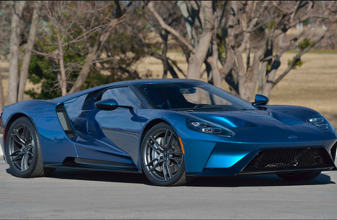 A 2017 Ford GT originally owned by wrestler John Cena will be back on the auction block in May. | Mecum photo