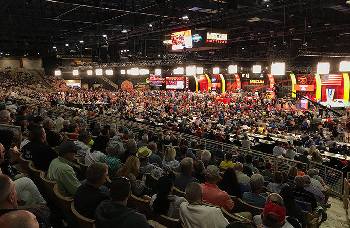 Mecum has twice expanded its inaugural Phoenix sale because demand is so high. | Mecum Auctions photo
