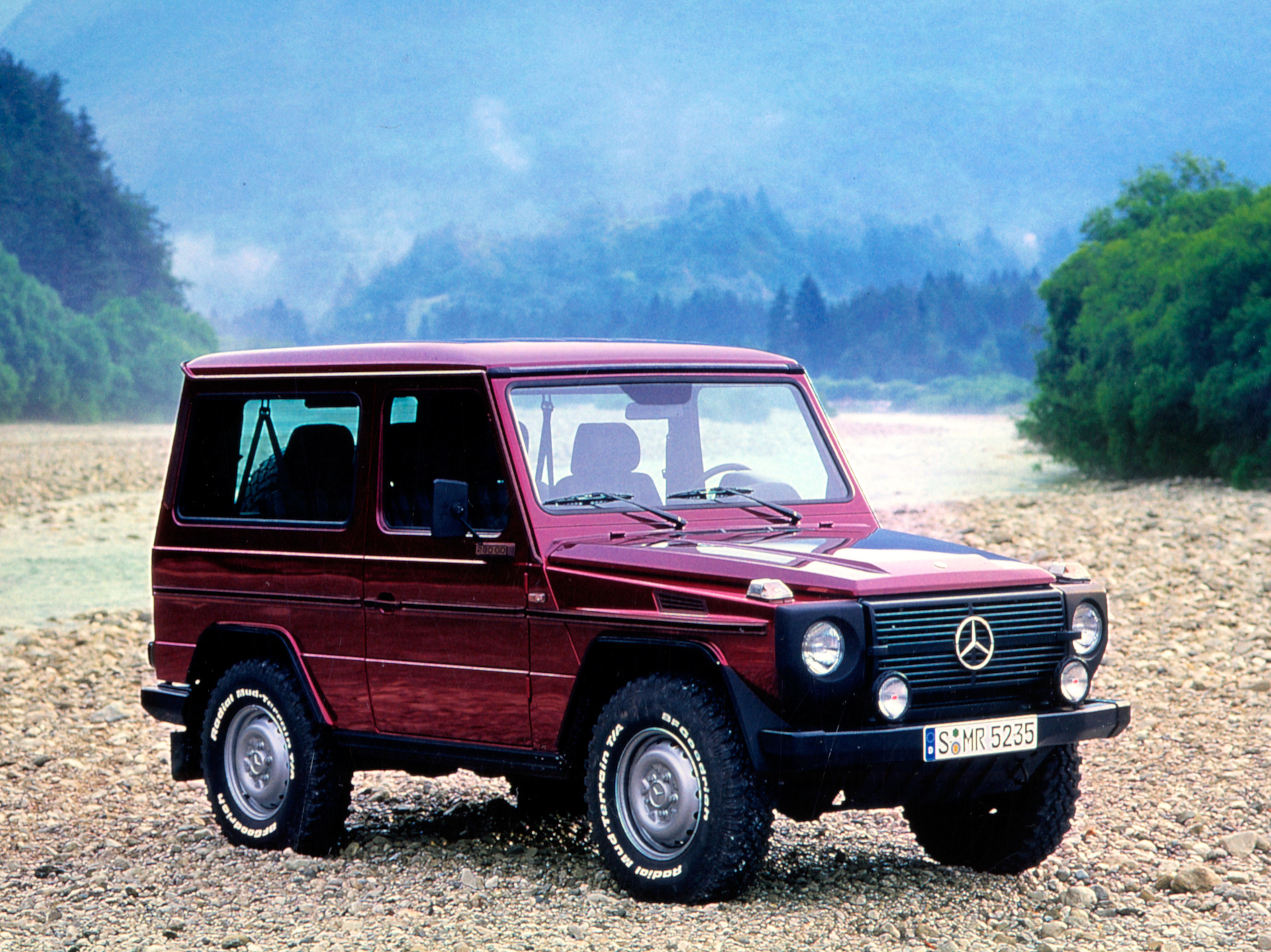 The civilian version of the Mercedes-Benz G-Class is 40 this year. The marque offered a look back at the vehicle's history to celebrate. | Mercedes-Benz photos