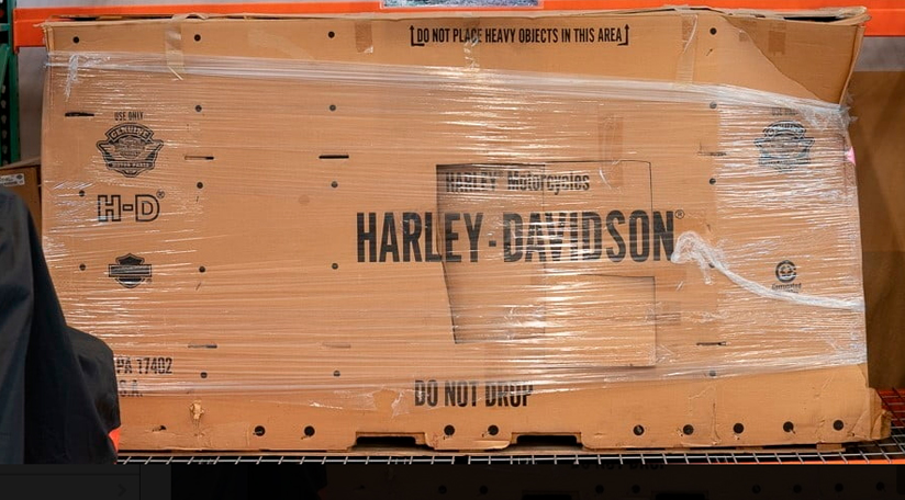 Even Harley-Davidsons still in the packaging were sold.