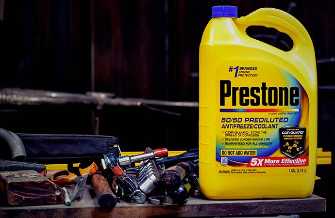 Prestone has released its latest coolant with Cor-Guard technology, which the company says protects engine from corrosion. | Prestone photos
