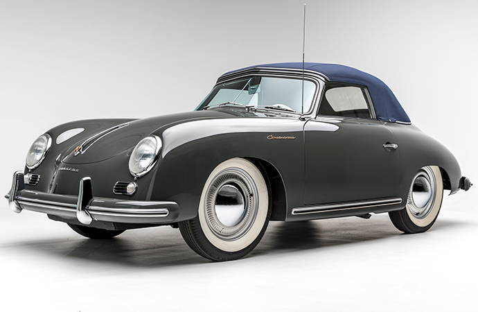 The 1955 Porsche Continental was different enough to earn its own model name, but that was soon put to an end after Ford Motor Company became involved. Instead, the car reverted to the 356A badge. | Petersen Automotive Museum photos