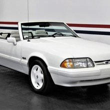 Still life: ultra-low-miles Mustang convertible in showroom condition