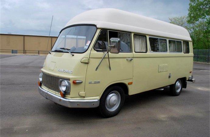 Vintage camping van with interesting heritage