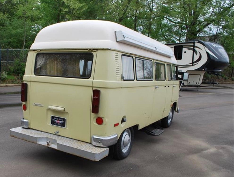 adc29655d1 The RV on offer from a dealership in Tennessee is among the last of the  Hanomag bus vans. Unlike rear-engine VW campers