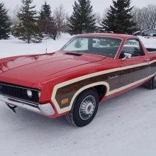 '70 Ranchero Squire still has original 351cid V8