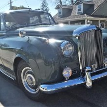 British classic 1956 Bentley S1 ready for a stately driving tour