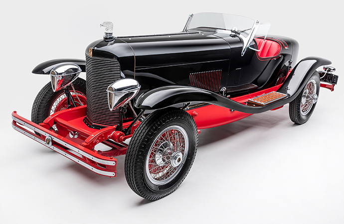 The 1929 Du Pont Model G Speedster on display at the Petersen Automotive Museum in Los Angeles. | Ted7 photos