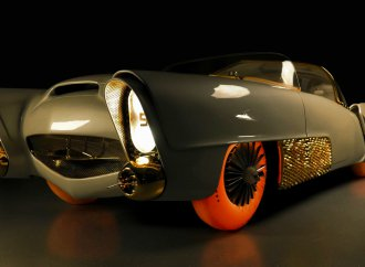 Glowing Goodyear tires unveiled beneath restored Golden Sahara II custom