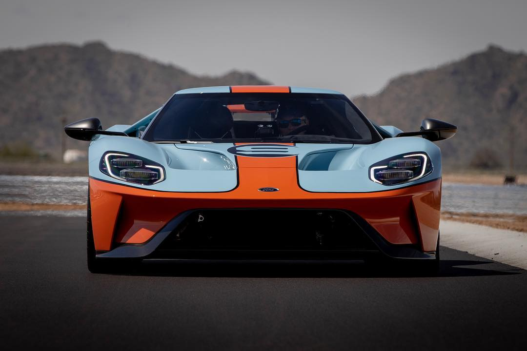 A Ford GT sits on the newly built track at Apex. | Apex Motor Club photo