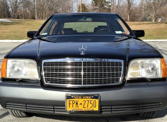 Top-range Mercedes 600 SEL luxury sedan with compact price