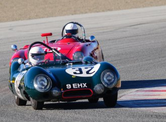 88-year-old driver and his historic 63-year-old Lotus feted