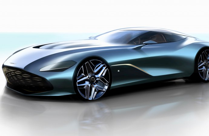 Aston Martin shares detailed drawings of DBS GT Zagato