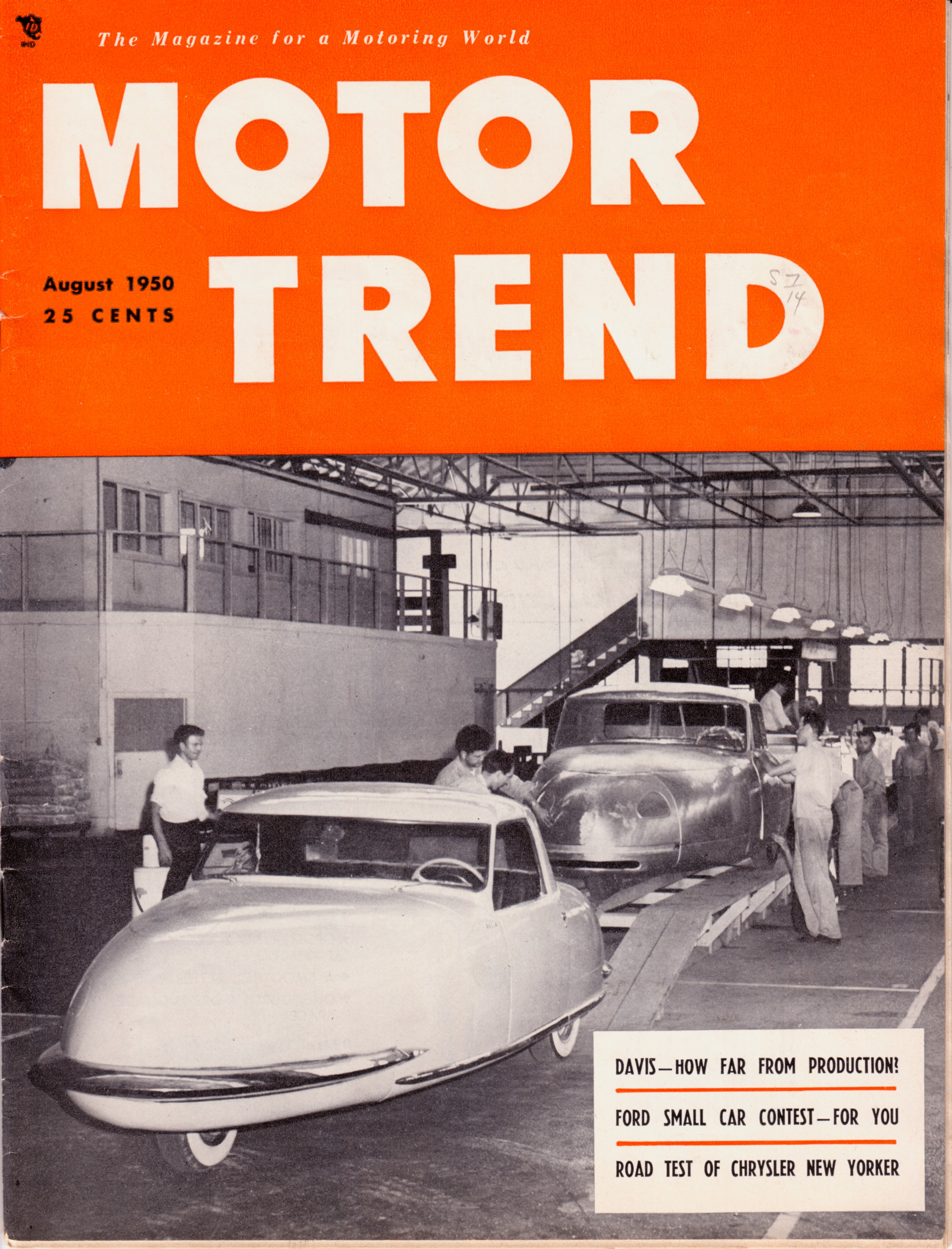 Davis was featured on the cover of Motor Trend, but a bright future was not in store for the company. | Petersen Automotive Museum photo
