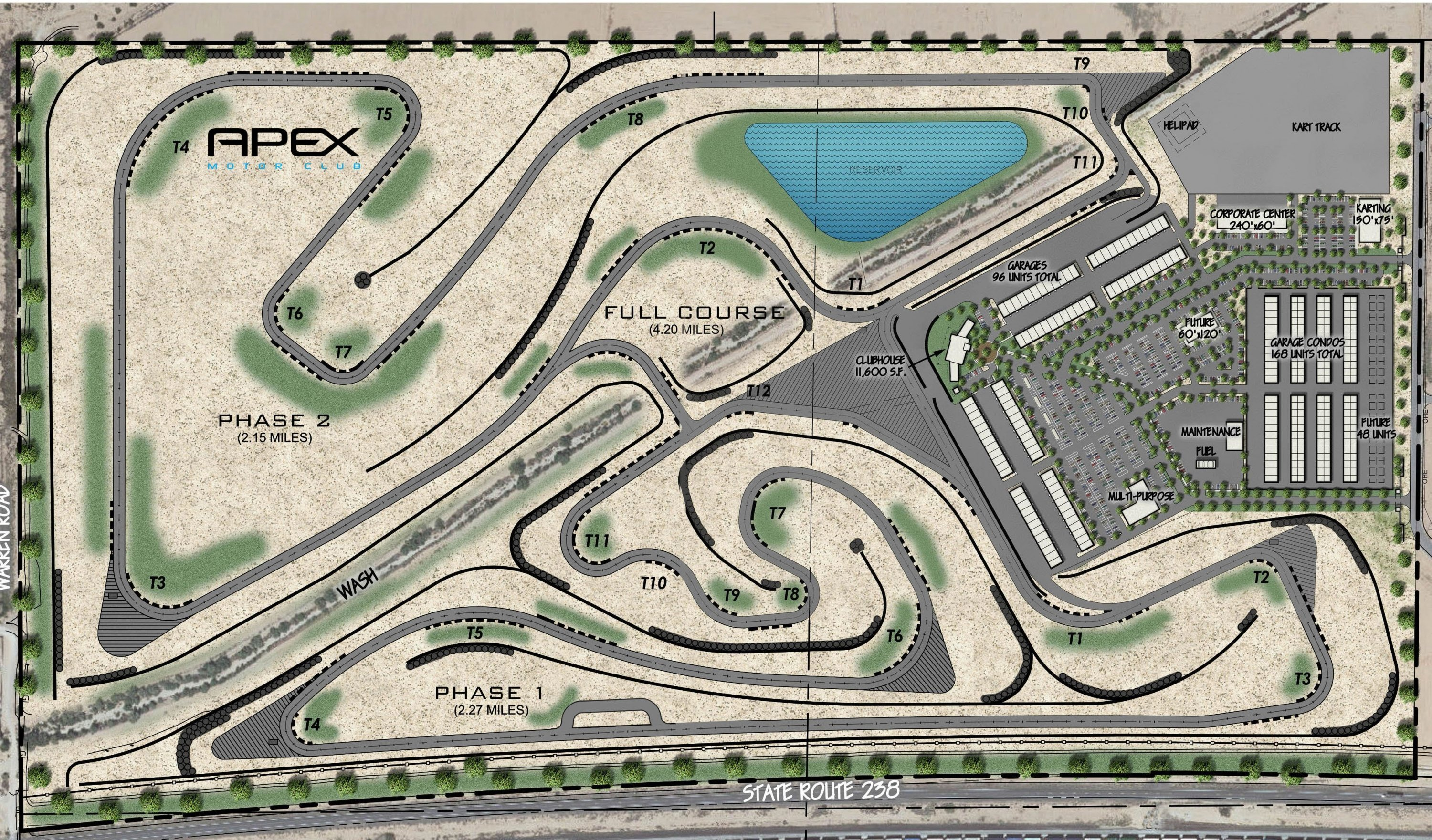 This map shows what the entire Apex facility will look like upon completion. | Apex Motor Club photo