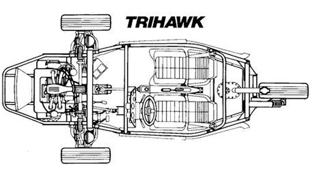 Harley-Davidson Trihawk was a car/motorcycle hybrid