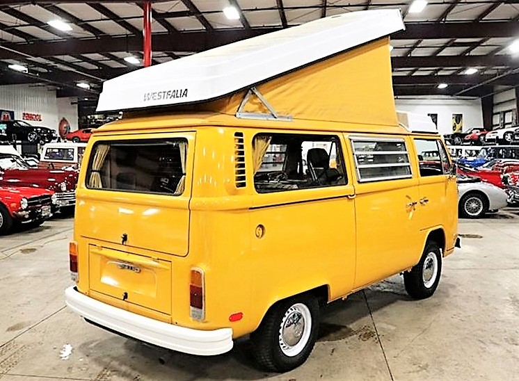 back to nature with vw camper as yellow as a dandelion. Black Bedroom Furniture Sets. Home Design Ideas