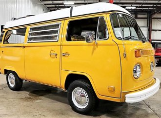 Back to nature with VW camper as yellow as a dandelion