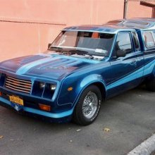 Datsun pickup customized by the 'King of Limousines'