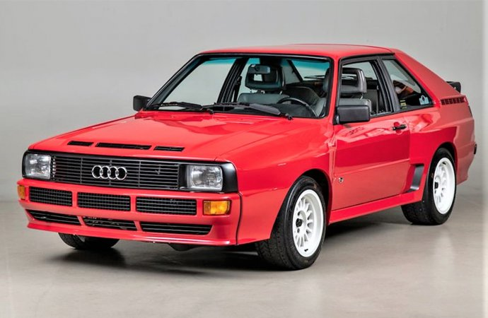 Rally star 1986 Audi Sport Quattro short-wheelbase coupe