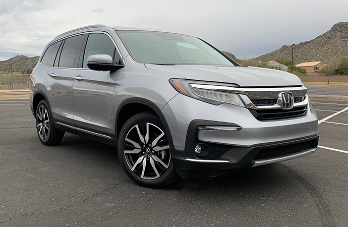 The 2019 Honda Pilot AWD Elite makes for a good car to take the family on the road. | Carter Nacke photos