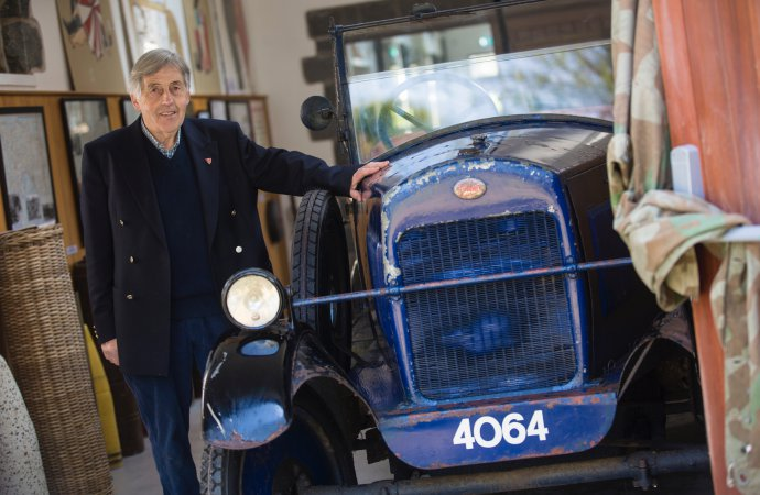 Car hidden from Nazis in garden shed goes on display