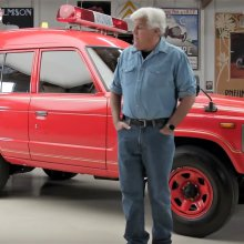 1989 Toyota Land Cruiser firetruck at 'Jay Leno's Garage'