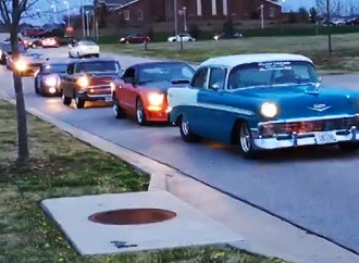 Classic car club drives special education students to prom